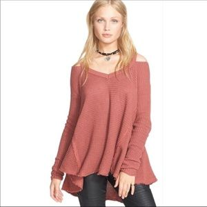 Free People Moonshine Knit Cold Shoulder Sweater S